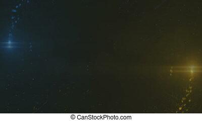 lentille, ouverture, flash, flamme, particules, intro, lumière