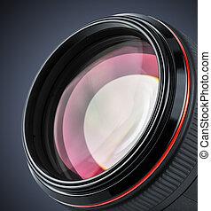 lentille, professionnel, appareil photo