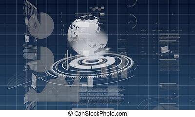lentille, tourner, globe