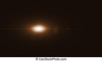 lentille, transition, optique, éclats (flares)