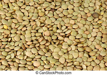 A dried, tasty and delicious lentils background