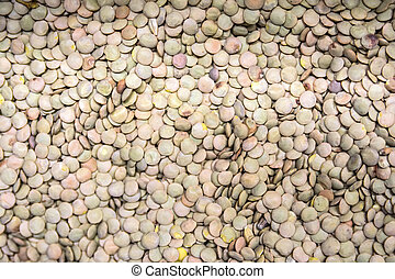 Lentils abstract background