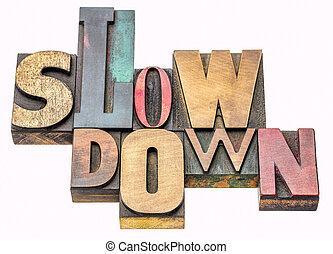 lento, palavra, abstratos, baixo, madeira, tipo