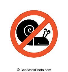 lento, prohibido, insect., road., snail., severo, prohibición, shellfish., silueta, congelado, emblema, parada, rojo, movimiento, caracol, mudanza, contra, plano de fondo, character., blanco