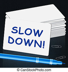 lento, slower, ilustração, baixo, significado, mensagem, 3d