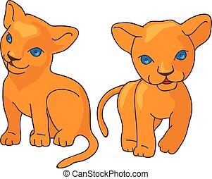 Leo kids vector illustration