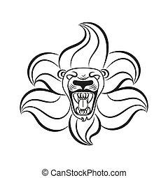 Leo lion sign symbol