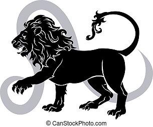 Leo zodiac horoscope astrology sign - Illustration of Leo...