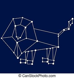 Leo zodiac sign.
