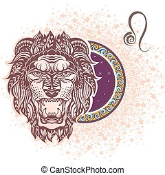 Leo. Zodiac sign - Zodiac symbol for your design