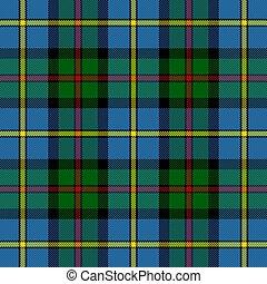 leod, tartan., plano de fondo, mac, jaula, escocés