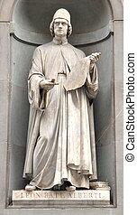 Leon Alberti statue in Florence