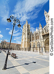 Leon Cathedral, Castilla y Leon, Spain.