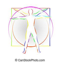 leonardo body study