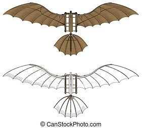 Leonardo Da Vinci Antique Fly...