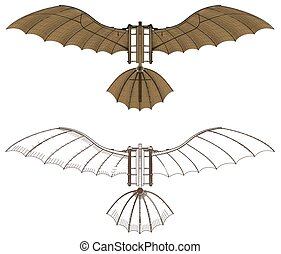 Leonardo Da Vinci Antique Fly... - Flying Machine Based On...