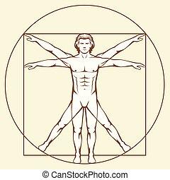 Leonardo Da Vinci Vetruvian Man,