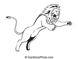 leone, attacco