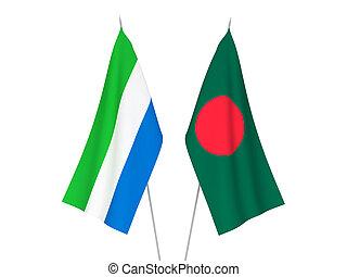leone, bangladesh, sierra, vlaggen