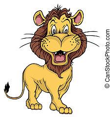 leone, cartone animato