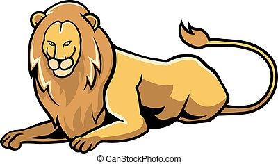leone, seduta