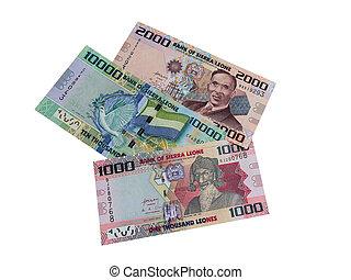 leone, sierra, geld