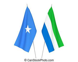 leone, sierra, somalië, vlaggen