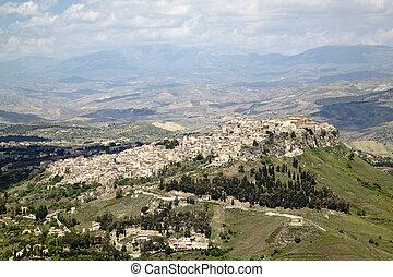 Leonforte quater - View of Leonforte from Enna, Sicily