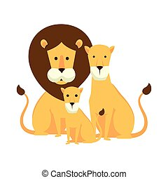 leoni, famiglia, caratteri, africano