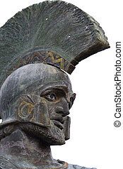 Leonidas statue and monument at Sparta city in Greece