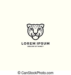 leopard cheetah head logo