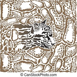 Leopard Clouded background