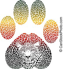 Leopard color footprint