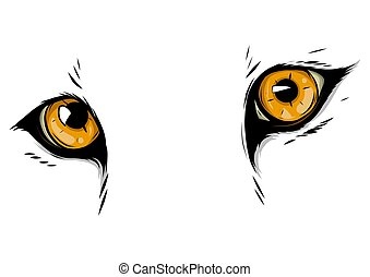 leopard Eyes Mascot Graphic in white background vector illustration