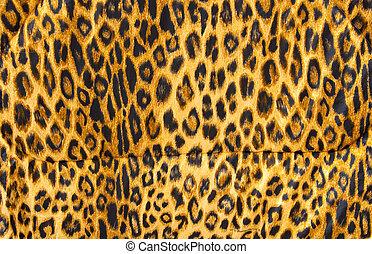 leopard flå, mönster, mjuk, filt, material