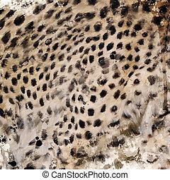 Leopard Fur Watercolor
