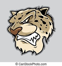 Leopard Head Illustration Vector in Cartoon Style