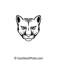 Leopard head logo