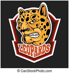 Leopard head mascot for sport team