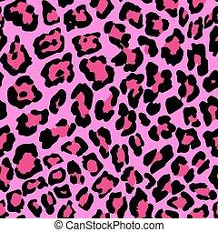 Leopard Pattern A - Vector Illustration of Leopard Print...