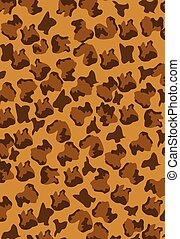 leopard pattern brown vector background editable ilustration
