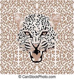 Leopard pattern vector - leopard print pattern. Abstract...