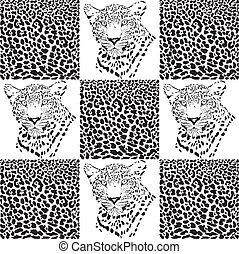 Leopard patterns for Textiles
