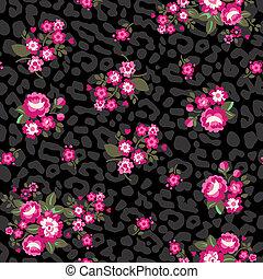Leopard Roses Wallpaper
