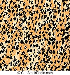 Leopard skin background or border