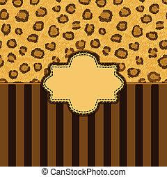 leopard skin background - vector illustration