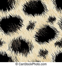 Leopard spots fur in a seamless pattern .