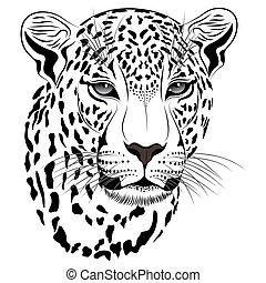 leopard, t�towierung