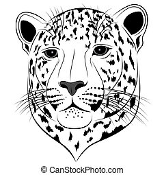 Leopard, tattoo - Abstract Leopard in the form of a tattoo