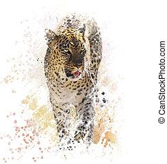 Leopard Watercolor